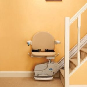 The Minivator Simplicity Straight Stairlift
