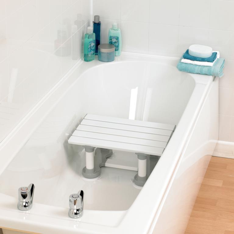 Savannah slatted bath seat sync living for Savannah bathroom accessories