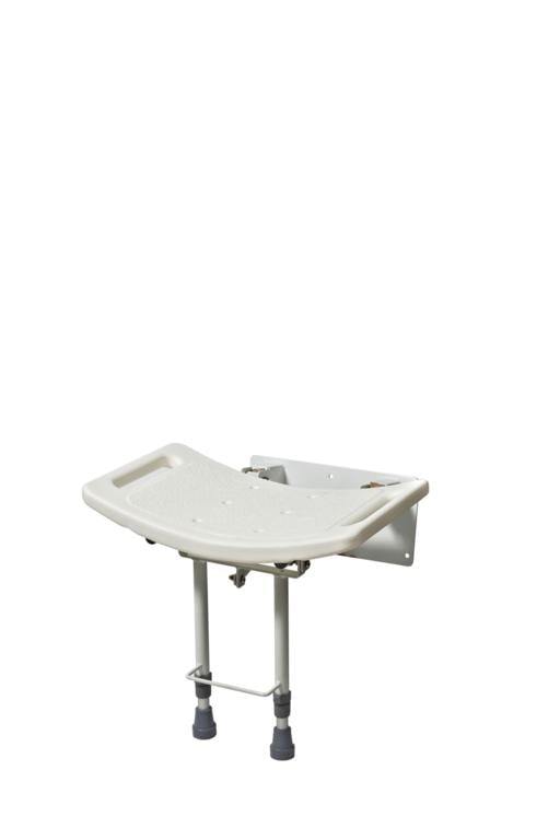 Wall Mounted Contoured Folding Shower Seat
