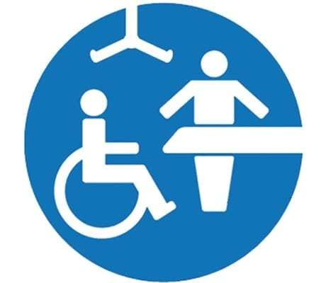 Changing places toilet sign
