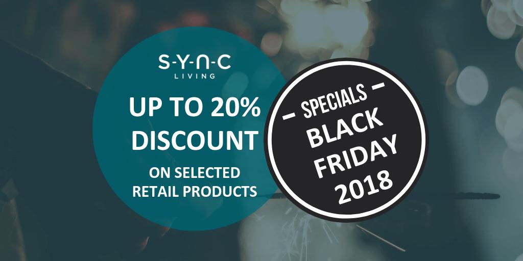 Black Friday deals at Sync Living