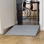 Buying a wheelchair ramp at Sync Living: Enable access doorline wedge threshold ramp