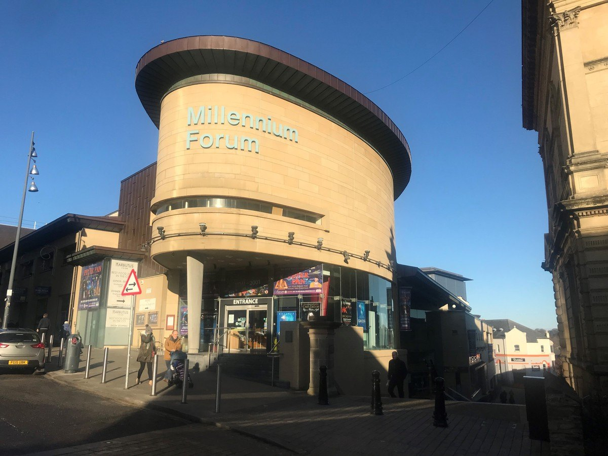 Changing Places at Millennium Forum - entrance to the building