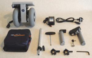 Disassembled TGA wheelchair powerpack